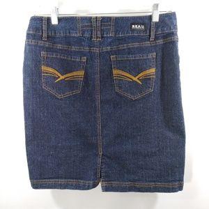 Beau Dawson Size 10 Jean Skirt Slit